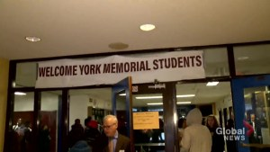 Students of York Memorial C.I. return to classes 1 week after fire
